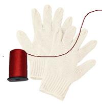 糸除毛手袋と赤い糸